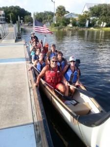 Historic Downtown St. Marys Big War Canoe Trip.